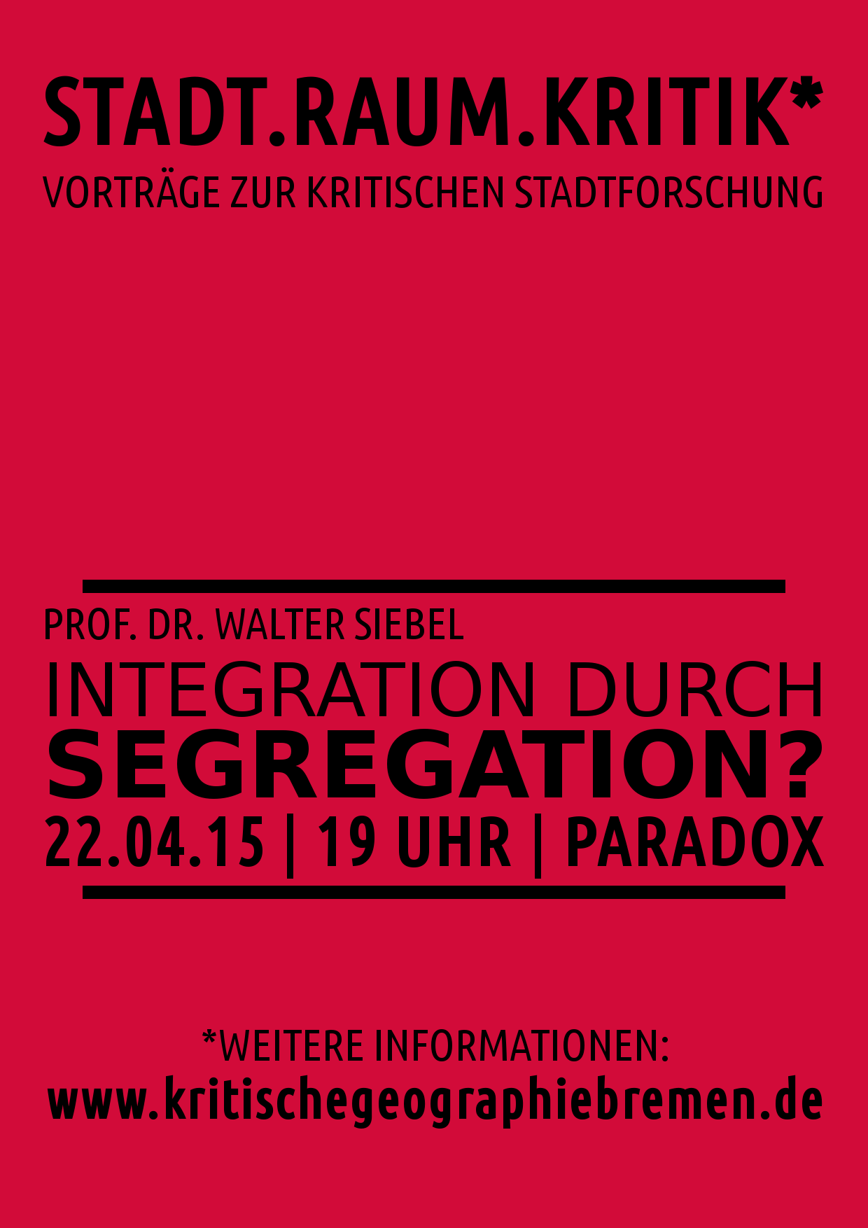 Vortrag Walter Siebel