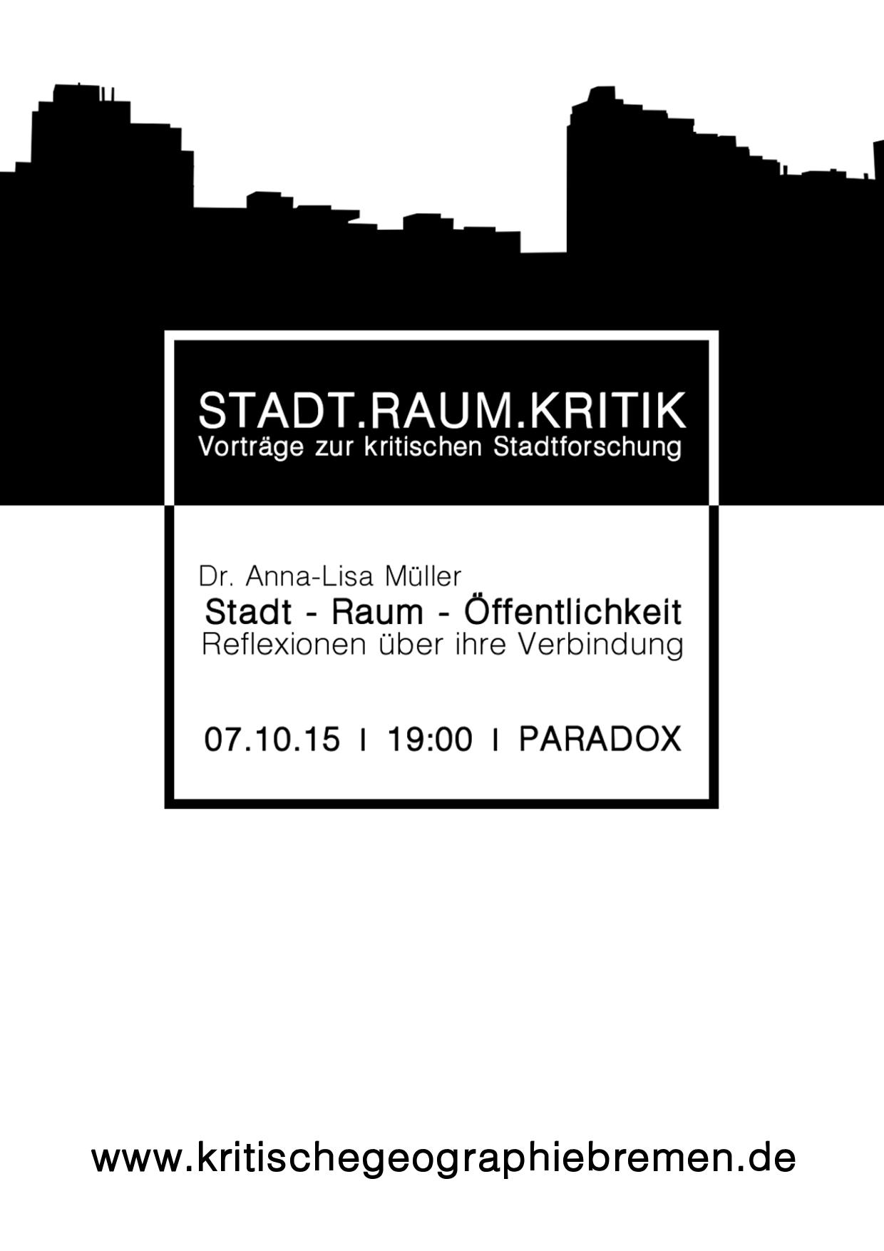Vortrag Stadt - Raum - Öffentlichkeit Anna-Lisa Müller
