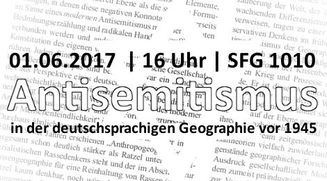 Vortrag: Antisemitismus in der Geographie